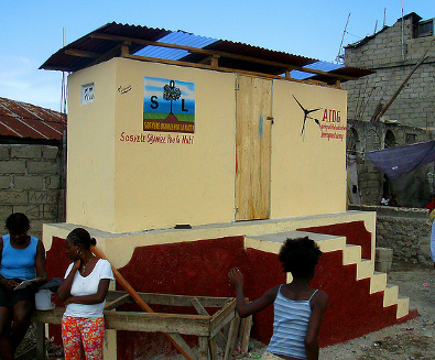 Public latrine in Petite Anse that serves 400 people