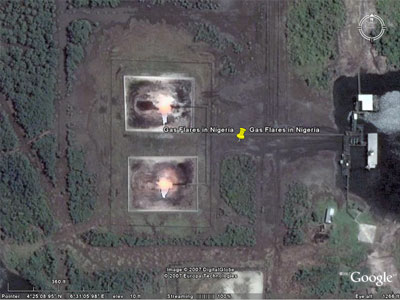 Gas Flaring in Nigeria visible from Space